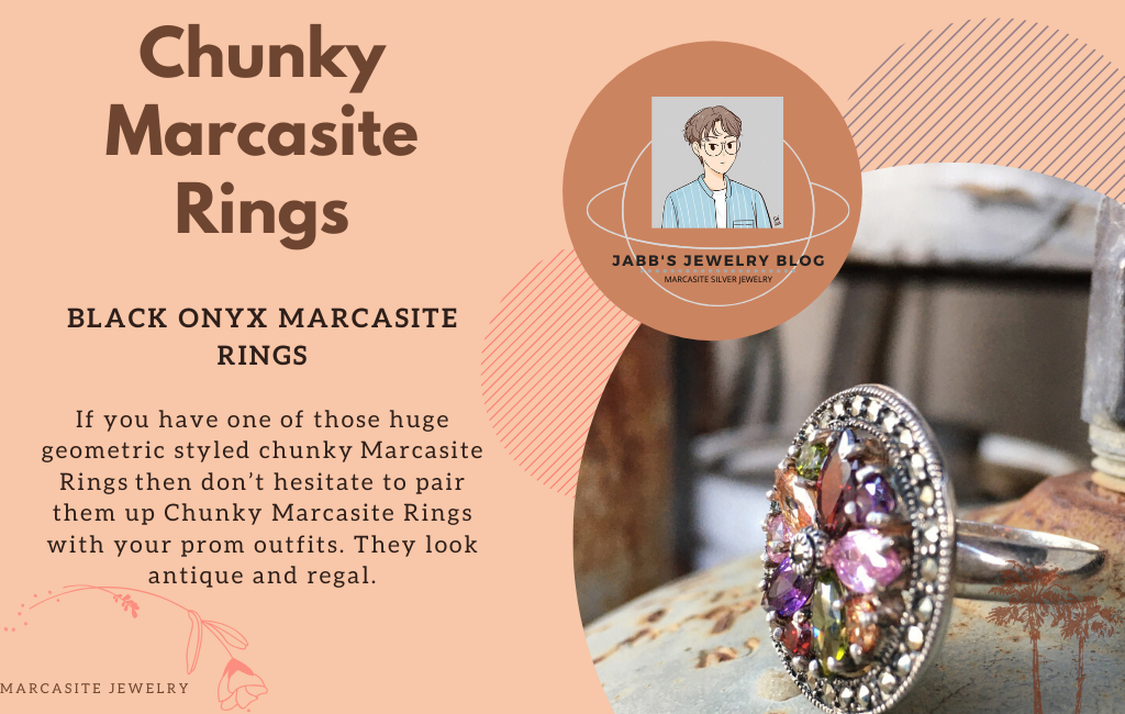 Chunky Marcasite Rings