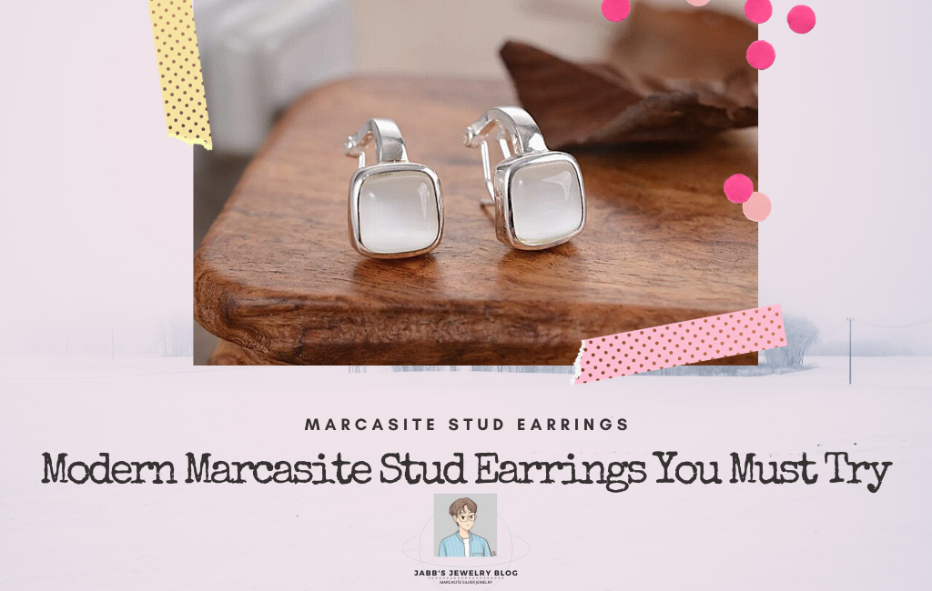 Modern Marcasite Stud Earrings You Must Try