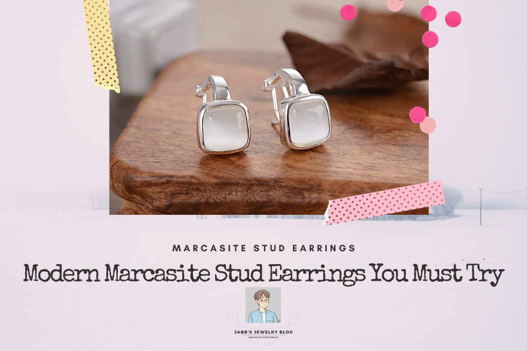Modern Marcasite Stud Earrings You Must Try
