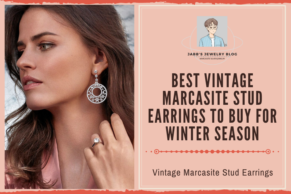 Best Vintage Marcasite Stud Earrings to Buy for Winter Season